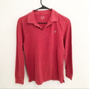 Vineyard Vines red polo